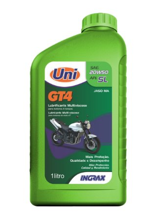 Oleo Lubrificante Motor Ingrax Moto 4t 20w50 Gt4 Sl 1l - 80041