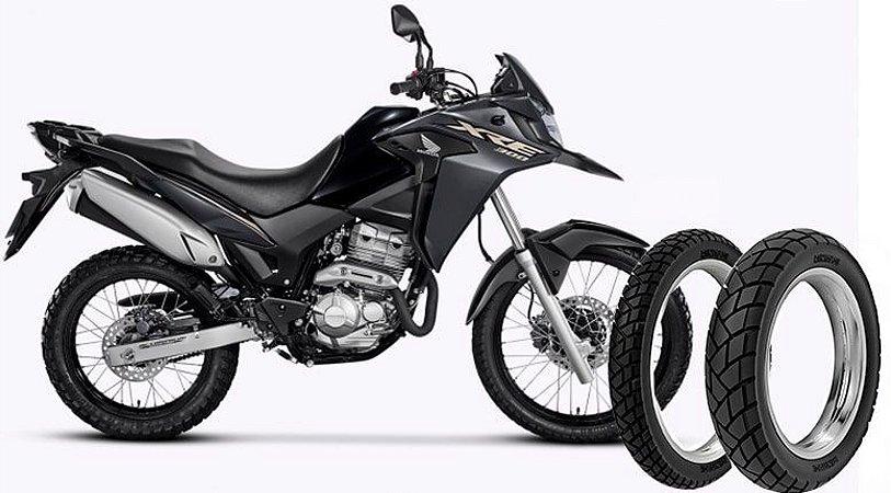 Kit Pneu Moto Honda Xre300 Rinaldi Dianteiro/traseiro