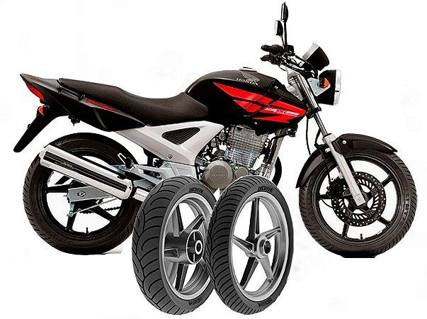 Kit Pneu Moto Honda Cbx250/cb300r/cb250f Twister Diant/tras