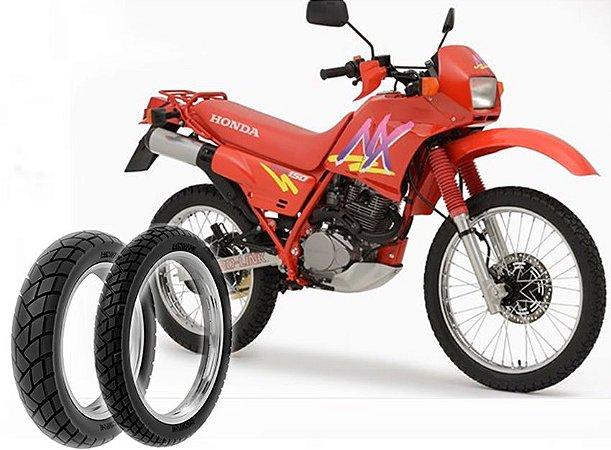 Kit Pneu Moto Honda Nx150/nx200 Dianteiro/traseiro