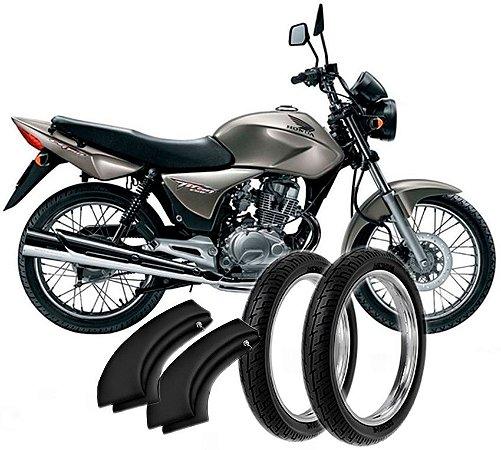 Kit Pneu Moto Honda Cbx150/cg125/cg150/today/rd125/rd135 + Camara Ar