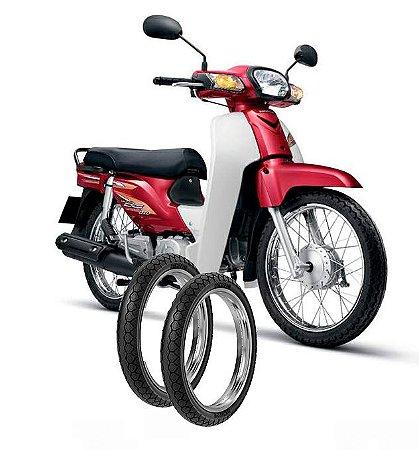 Kit Pneu Moto Honda C100 Dream Diant/tras