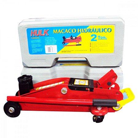 Macaco Hidraulico Jacare 2t C/ Maleta  Hulk - Jj2t