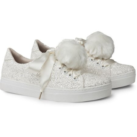 TÊNIS IT – GLITTER WHITE FUR (POMPOM REMOVÍVEL)