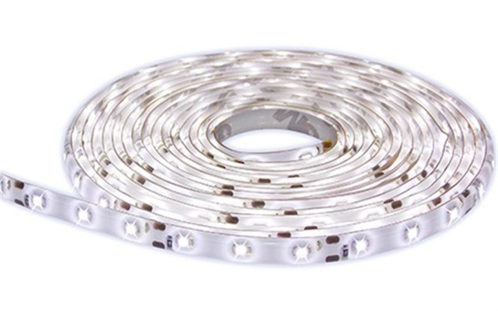 Fita LED 5050 Branco Frio 6000K  em rolo adesivo com 5 metros 12V Flexível IP65 Siliconada
