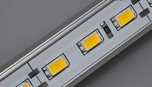 Barra Régua LED com 72 Leds rígida placa com 1 metro e calha de alumínio Luz Branca Fria 6500K