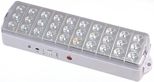 Luminária de Emergencia 30 Leds Bivolt - Botão Auto Teste