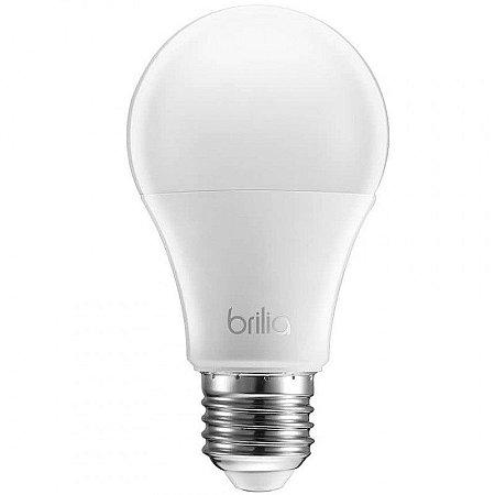Lâmpada LED Bulbo A60 Brilia Dimerizável 9,5W 220V 2700K Branco Quente