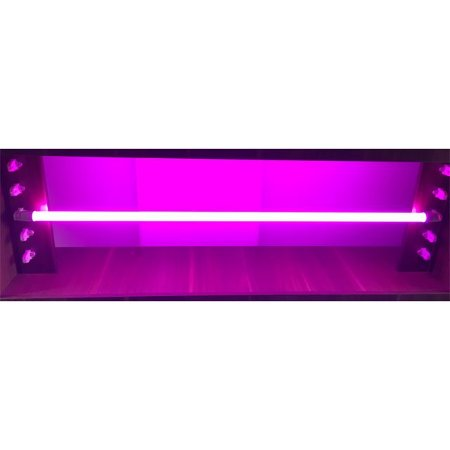 Lâmpada LED Tubular Color Glass 18W T8 G13 120cm Rosa