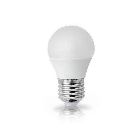 Lâmpada LED Mini Bulbo Bolinha LED 5W E27 Branco Quente 3000K Bivolt