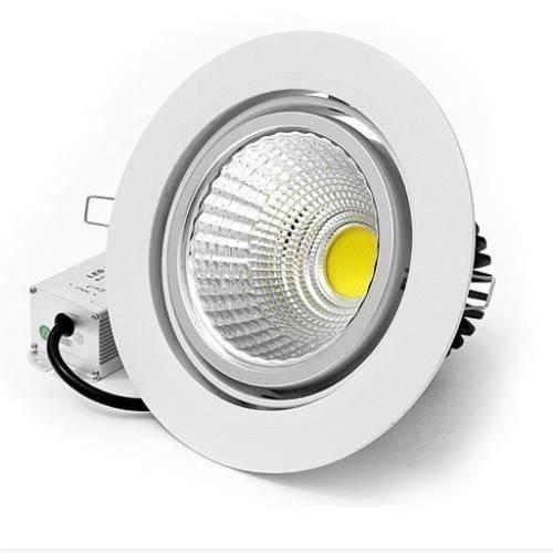 Spot Led Dicróica Direcionável Embutir Redondo COB 5W Branco Frio 6500K Bivolt
