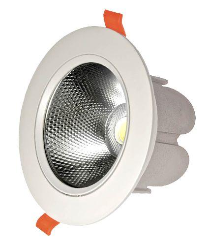 Plafon SPOT LED Embutir Downlight COB 20w 6500K Branco Frio Bivolt