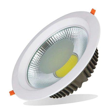 Plafon SPOT LED Embutir Downlight COB 50w 3000K Branco Quente Bivolt