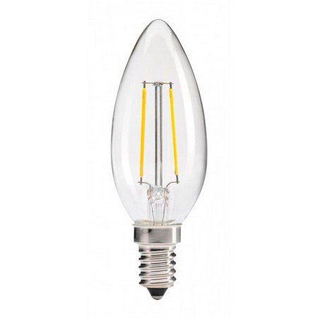 Lâmpada LED Filamento Vela Chama 4W E14 2700K Branco Quente Bivolt