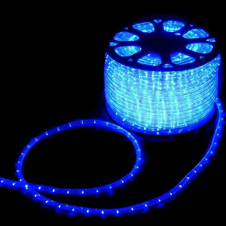 Mangueira redonda led azul 127v ip66 rolo 100m
