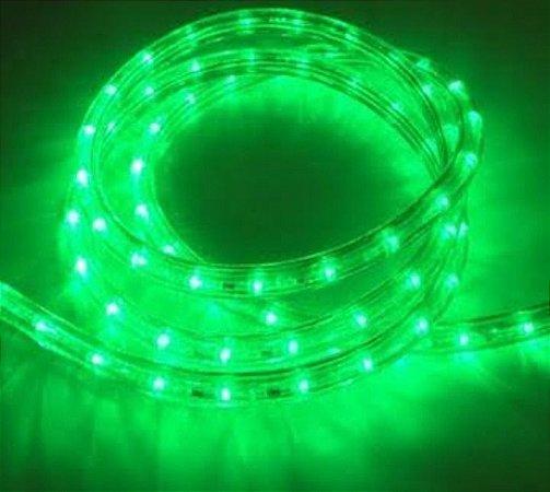 Mangueira redonda led verde 220v ip66 1 metro