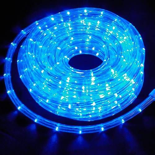 Mangueira redonda led azul 220v ip66 1 metro