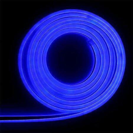 Mangueira led neon flex azul 127v ip66 1 metro