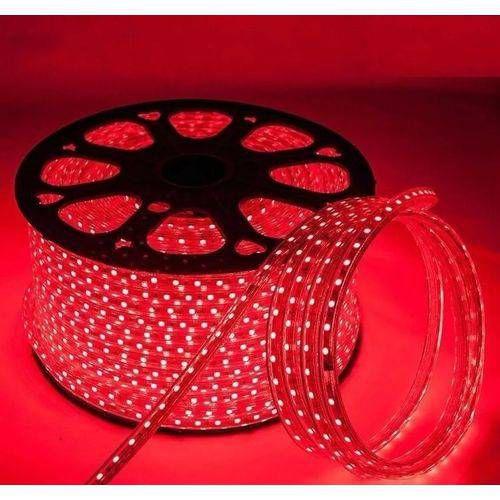 Mangueira chata led 5050 vermelho 127v ip66 1 metro