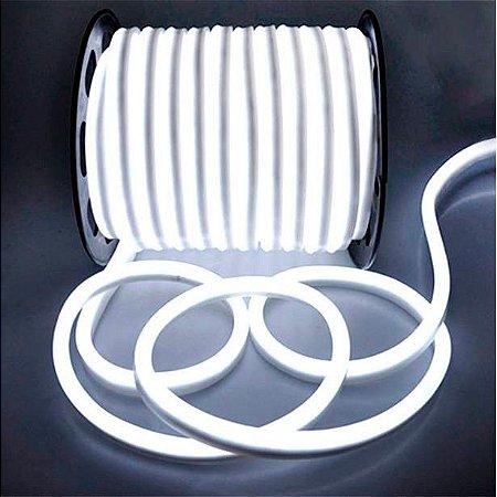 Mangueira led neon flex branco frio 220v ip66 rolo 50m