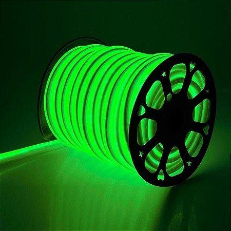 Mangueira led neon flex verde 127v ip66 rolo 50m