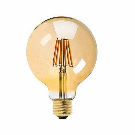 Lâmpada Filamento Retrô LED G125 6W E-27 Balloon âmbar 2300K Bivolt