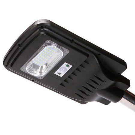 Luminária Publica 20W com placa solar integrada e sensor de presença 6500K Bivolt