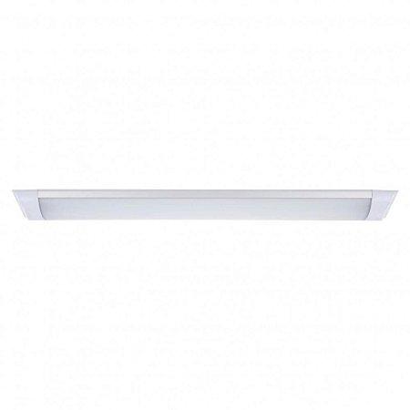 Luminária Calha LED Sobrepor 30cm 10W 6500K Branco Frio