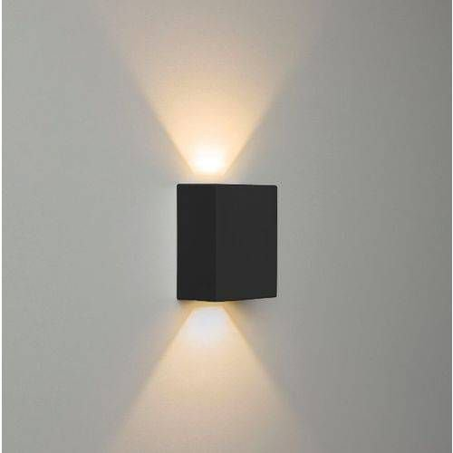 Arandela de Parede LED Redondo 10W Facho Duplo 3000K Branco Quente Bivolt