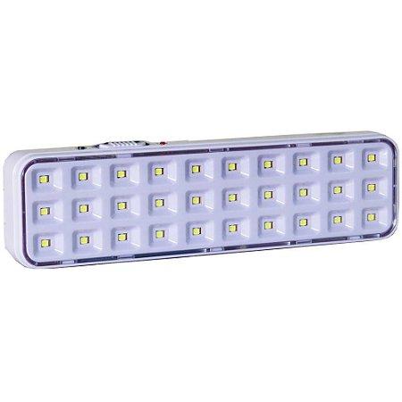 Luminária de emergência 2w 6500k 30 leds Luz Sollar