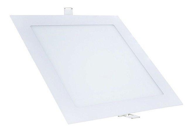 Plafon led embutir quadrado 24W branco frio 6500k bivolt