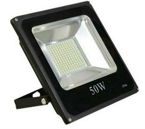 Refletor Led SMD 50w 3000K Branco Quente Bivolt IP66