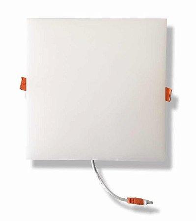 Plafon Led Embutir Quadrado Borda Infinita 24W Branco Frio Bivolt
