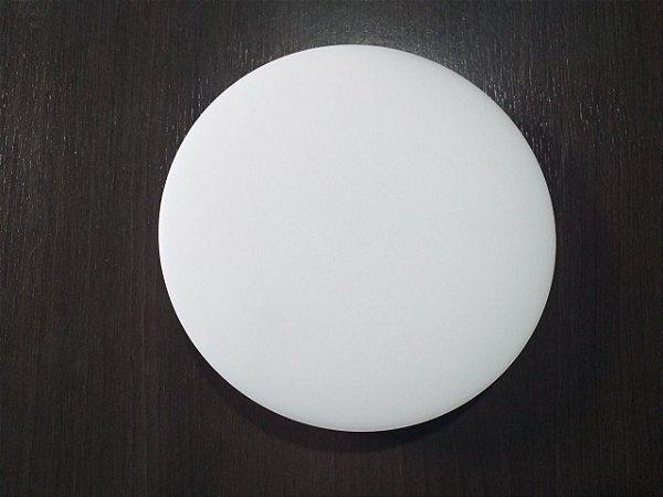 Plafon Led Embutir Redondo Borda Infinita 24W Branco Frio Bivolt