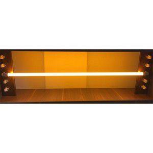 Lâmpada LED Tubular Amarelo Policarbonato 2l 18W T8 G13 120cm