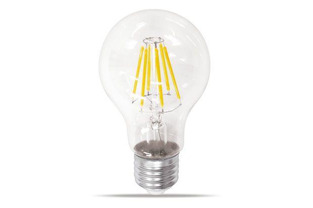 Lâmpada LED Bulbo Filamento Transparente 6w  A60 E27 Bivolt 6000K Branco Frio