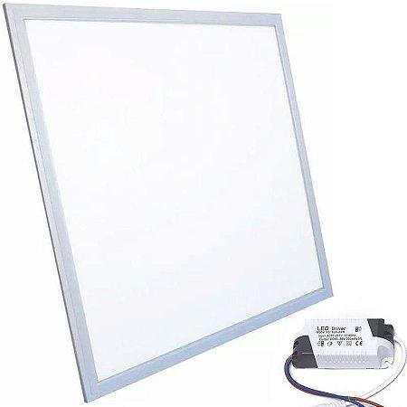 Plafon Led Embutir Quadrado 40x40 36W Bivolt Branco Frio 6500k