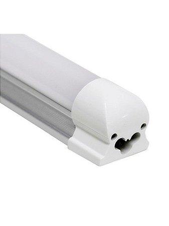 Lâmpada LED Tubular T5 com calha 30cm 6W Branco Frio 6000K Bivolt