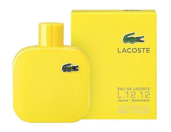 Perfume Masculino Lacoste L.12.12 Jaune Optimistic Eau de te Toilette