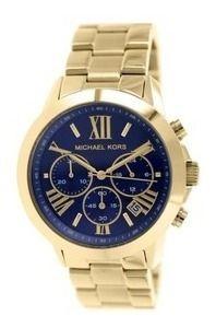 Relógio Feminino Michael Kors MK5923 Dourado Fundo Azul