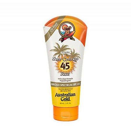 Australian Gold Sheer Coverage Face Lotion SPF45 - Protetor Solar Facial 90G