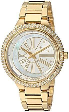 Relógio Feminino Michael Kors MK6550 Ladies Dourado Cravejado