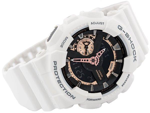 ce61c13a2fa Relógio Unissex Casio GA-110RG 7ADR Branco - Mimports - Produtos e ...