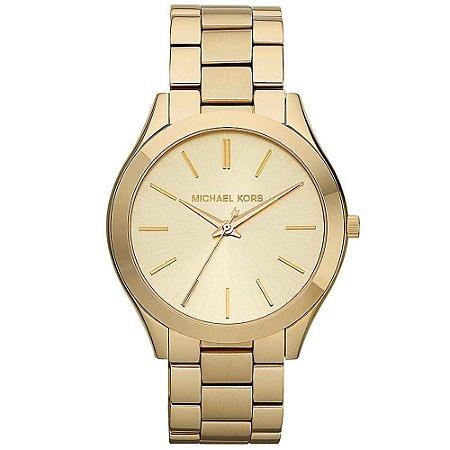 Relógio Feminino Michael Kors MK3179 Slim Dourado