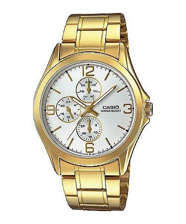 Relógio Unissex Casio Modelo MTP-V301G-7AUDF Dourado