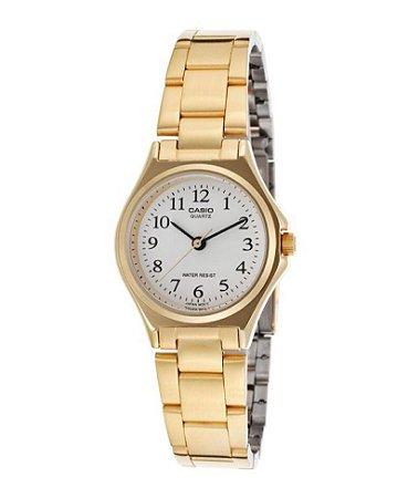 3b6d169a962 Relógio Unissex Casio Modelo MTP-1130N-7BRDF Dourado - Mimports ...