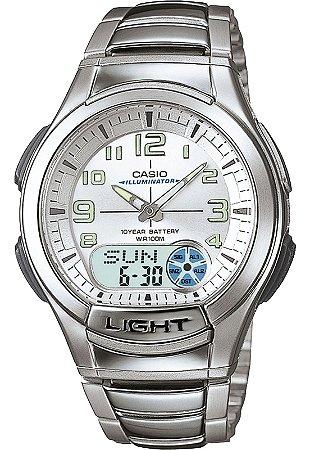 Relógio Unissex Casio Modelo AQ-180WD-7BVDF Prata