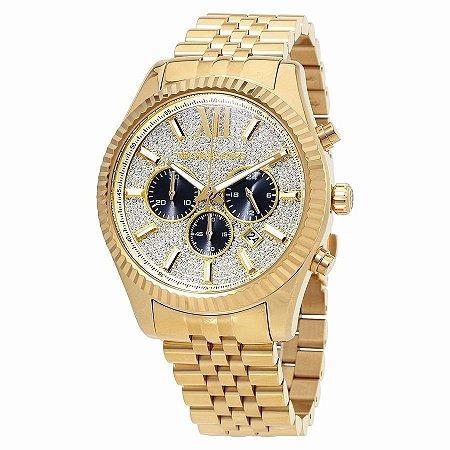Relógio Feminino Michael Kors MK8494 Dourado Strass