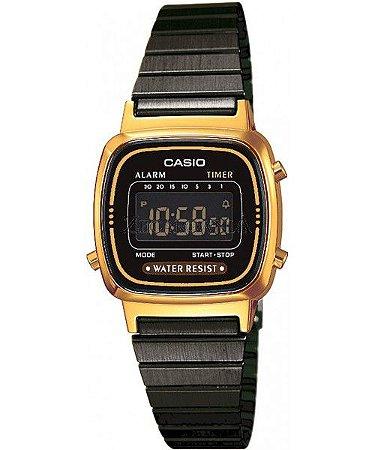 cd4c840a85a Relógio Unissex Casio Digital Modelo LA670WEGB-1BDF Preto - Mimports ...