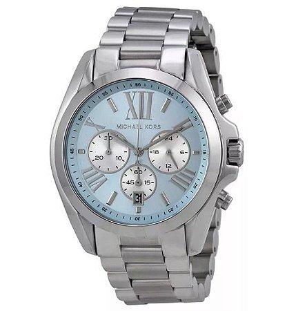 8c5a40851d0 Relógio Feminino Michael Kors MK6099 Prata fundo Azul - Mimports ...
